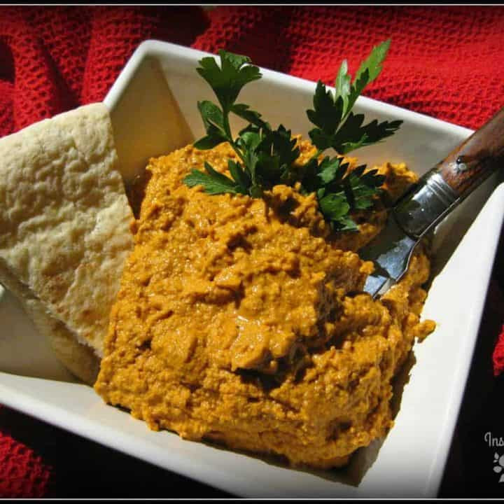 Roasted Red Pepper Walnut Hummus