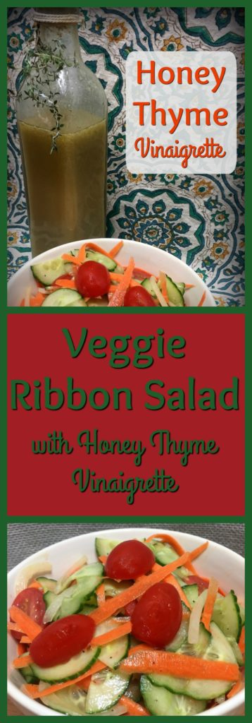 Pinterest Veggie Ribbon Salad with Honey Thyme Vinaigrette