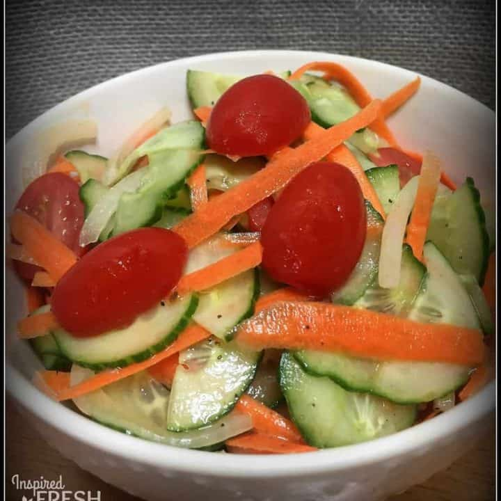 Veggie Ribbon Salad with Honey Thyme Vinaigrette