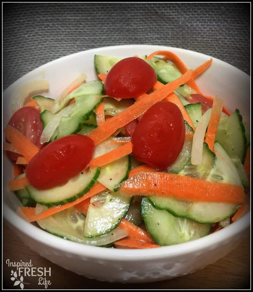 Veggie Ribbon Salad with Honey Thyme Vinaigrette
