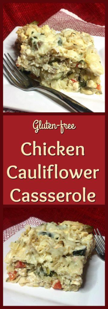 Chicken cauliflower casserole pinterest image