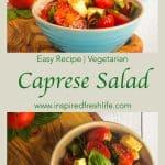 Caprese Salad Pinterest image