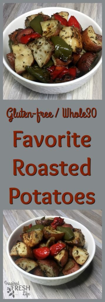 favorite roasted potatoes pinterest image