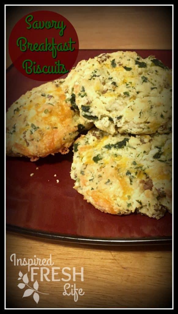 Savory Gluten-free Breakfast Biscuits Pinterest image