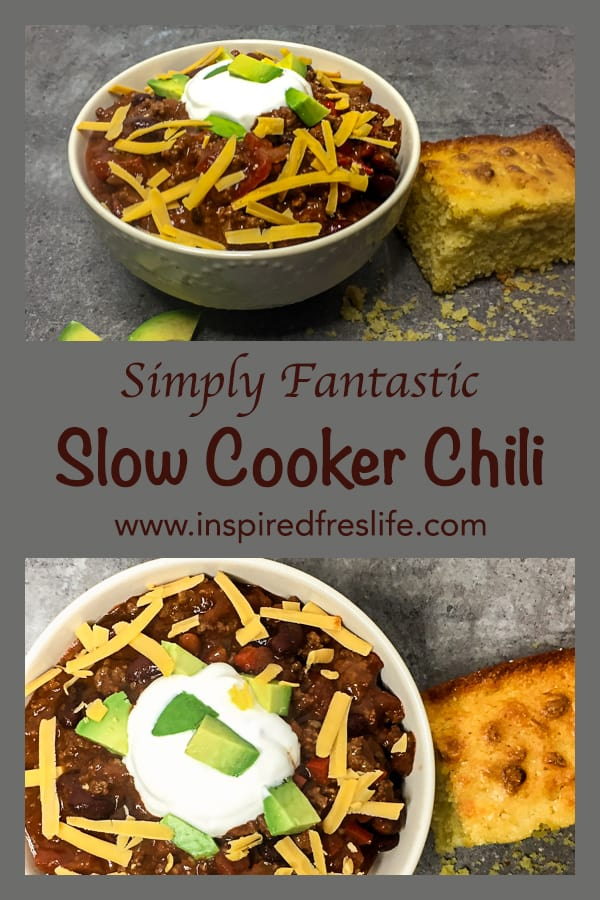 Slow Cooker Chili Pinterest image