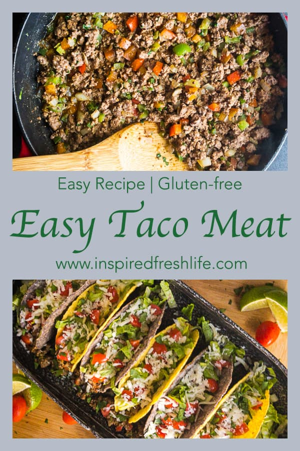 Easy Taco Meat Pinterest image
