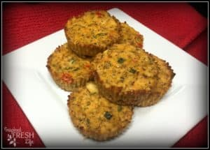 salmon cakes on a square white plate