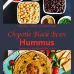 Pinterest image for Chipotle Black Bean Hummus