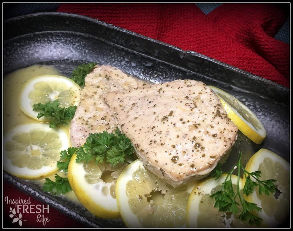 Grilled Swordfish with Garlic Sage Butter