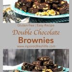Pinterest image for Gluten-free Double Chocolate Brownies