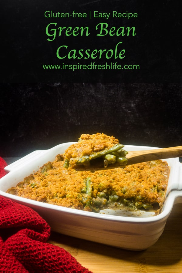 Pinterest image for Gluten-free Green Bean Casserole