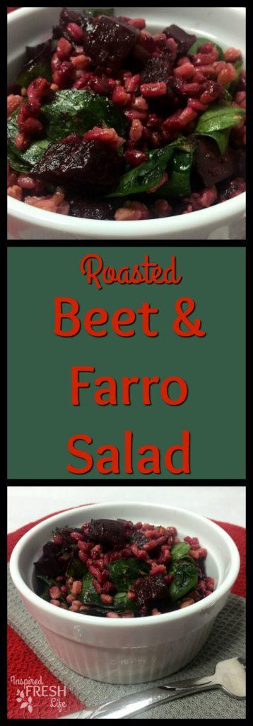 Roasted Beet and Farro Salad Pinterest image