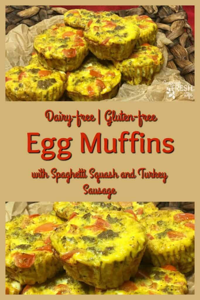 Dairy Free Egg Muffins Pinterest image