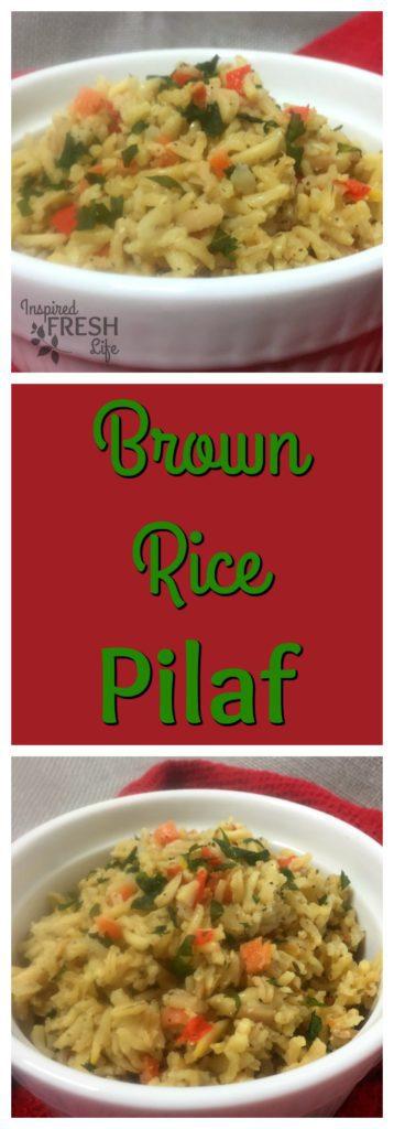 Brown Rice Pilaf Pinterest image