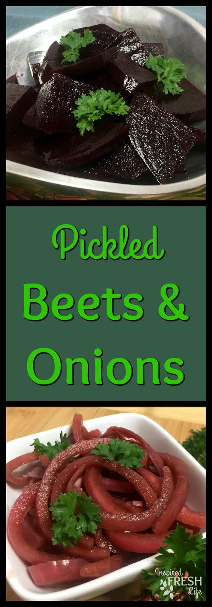 Pinterest image for Pickled Beets and Onions