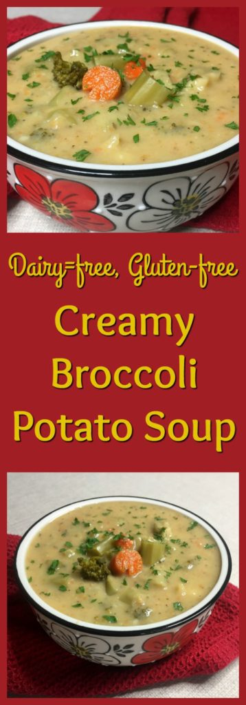Creamy Broccoli Potato Soup pinterest image