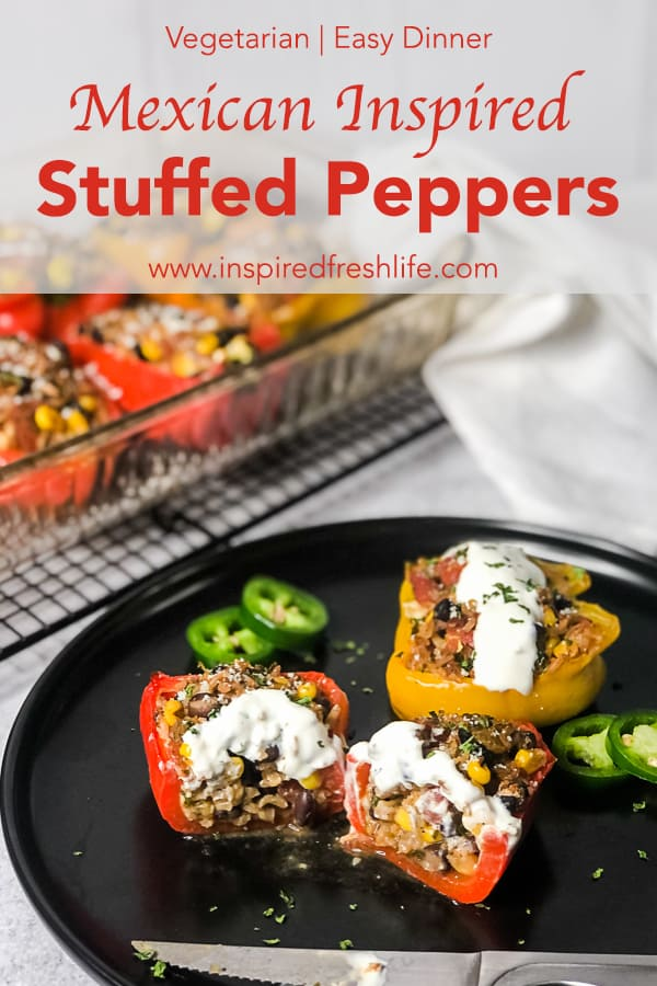 Pinterest image for Mexican Stuffed Bell Peppers