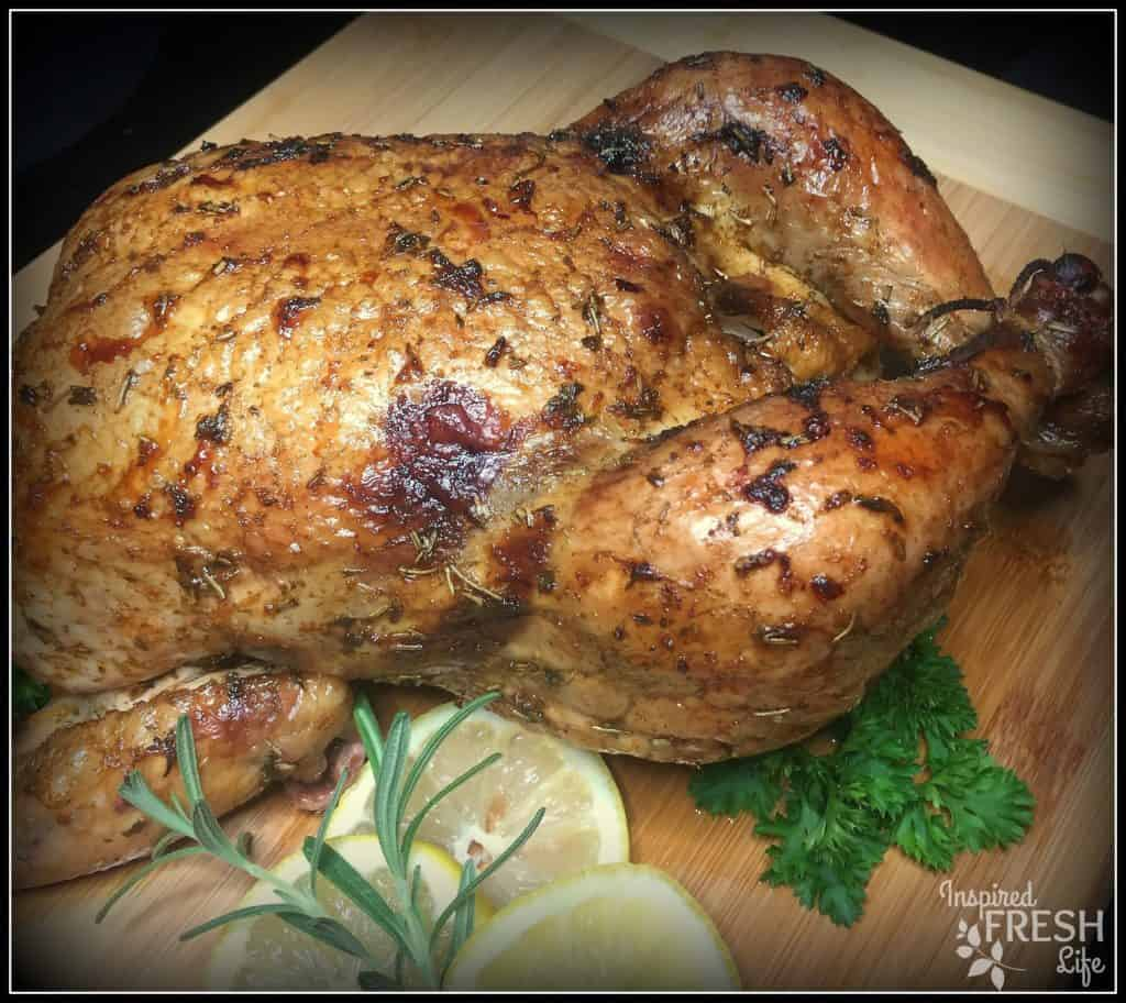 Smoked Lemon Rosemary Chicken