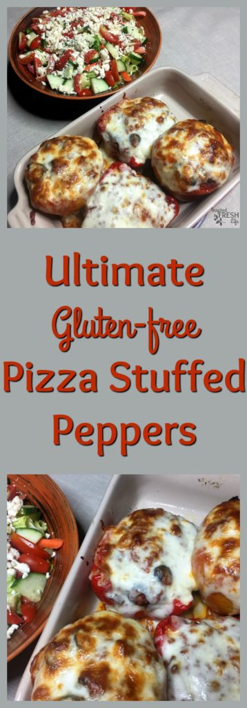 Ultimate Pizza Stuffed Peppers Pinterest pin