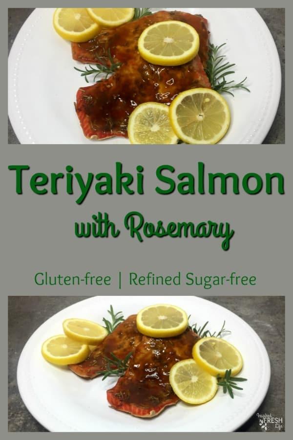 Teriyaki Salmon with Rosemary Pinterest pin