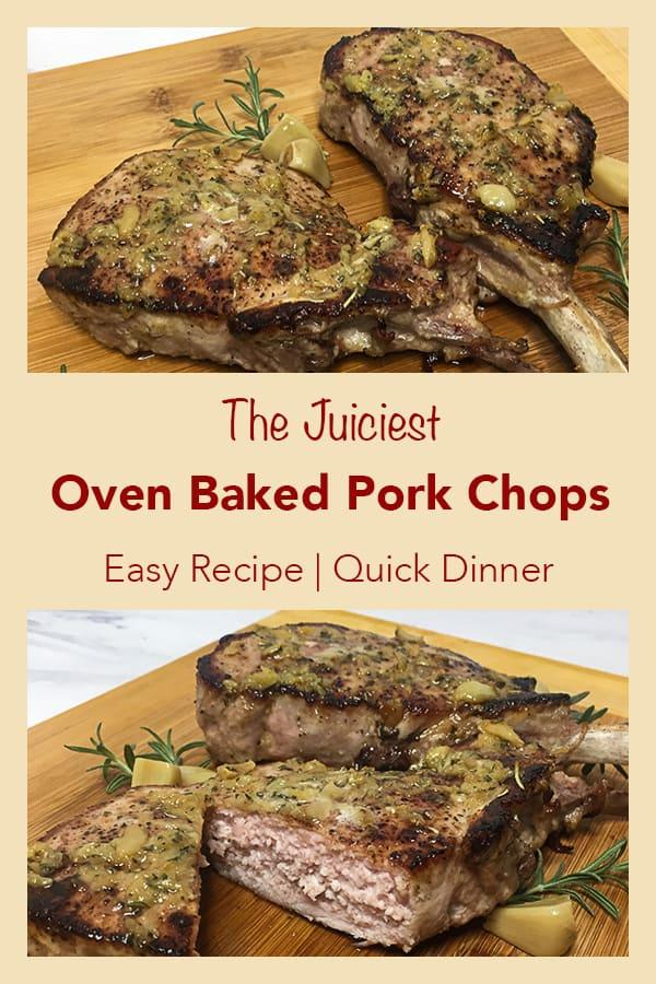 Oven Baked Pork Chops Pinterest image