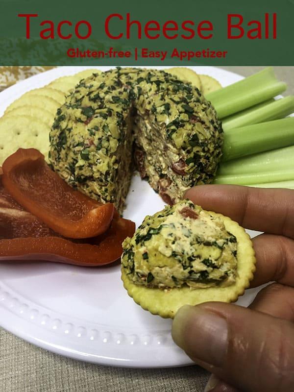 Taco Cheese Ball Pinterest image