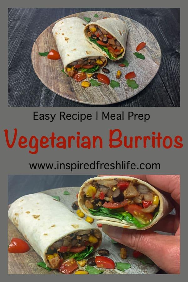 Vegetarian Burrito Pinterest image