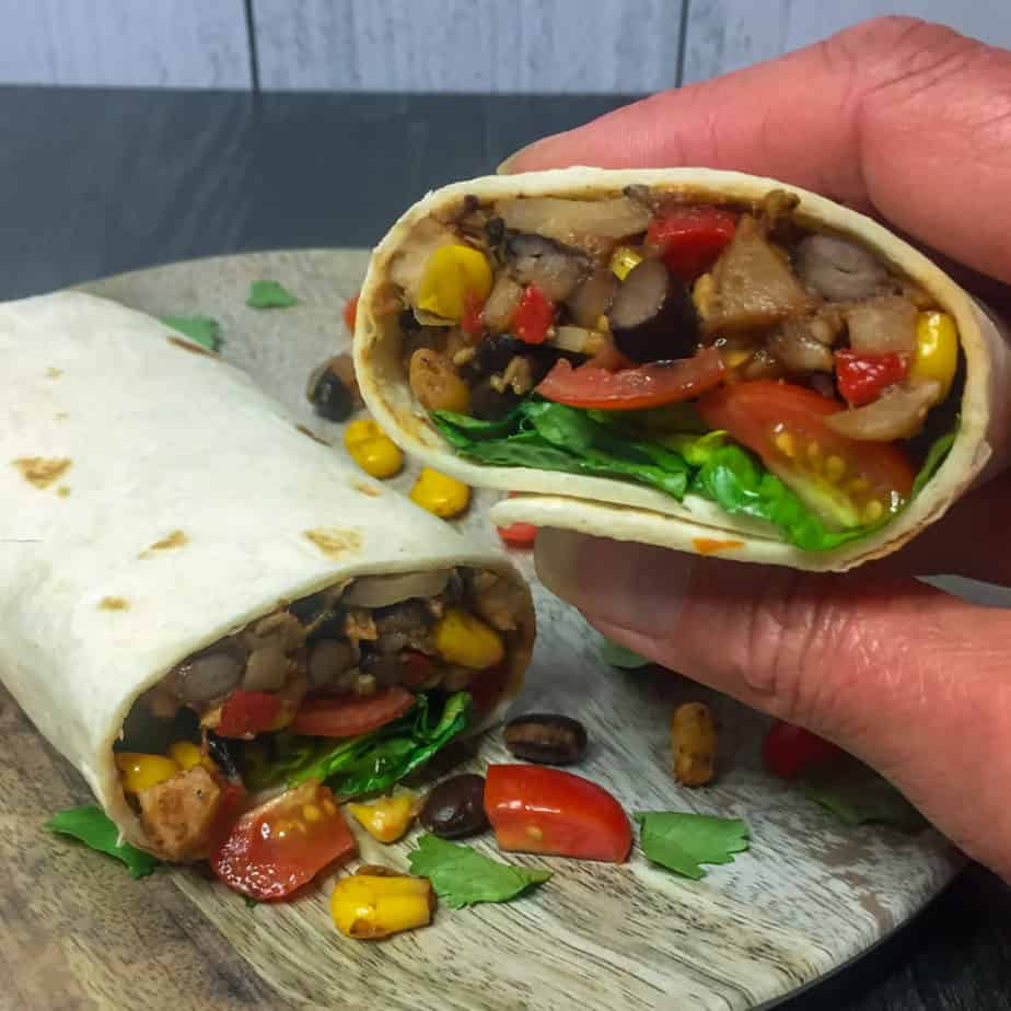 Vegetarian Burrito Pinterest pin