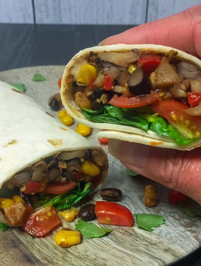 Vegetarian Burrito Pinterest pin