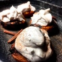 Grilled Peaches with Coconut Whipped Cream