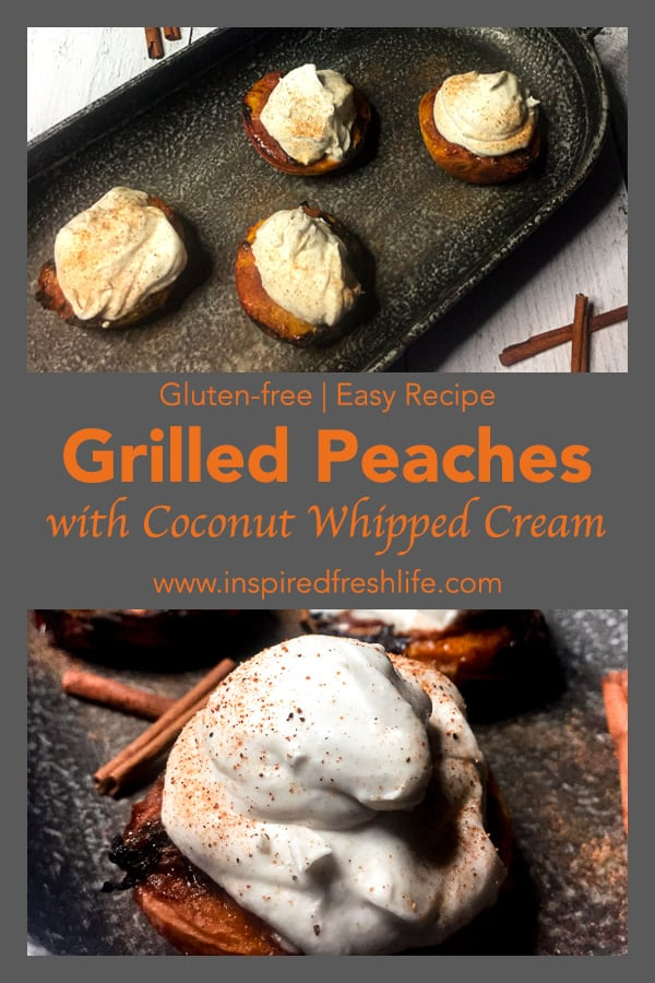 Grilled Peaches Pinterest image