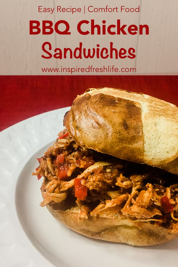 BBQ Chicken Sandwich Pinterest image