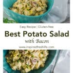 Pinterest image for Best Potato Salad with Bacon.