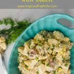 Best Potato Salad with Bacon Pinterest image