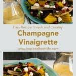 Pinterest image for Champagne Vinaigrette