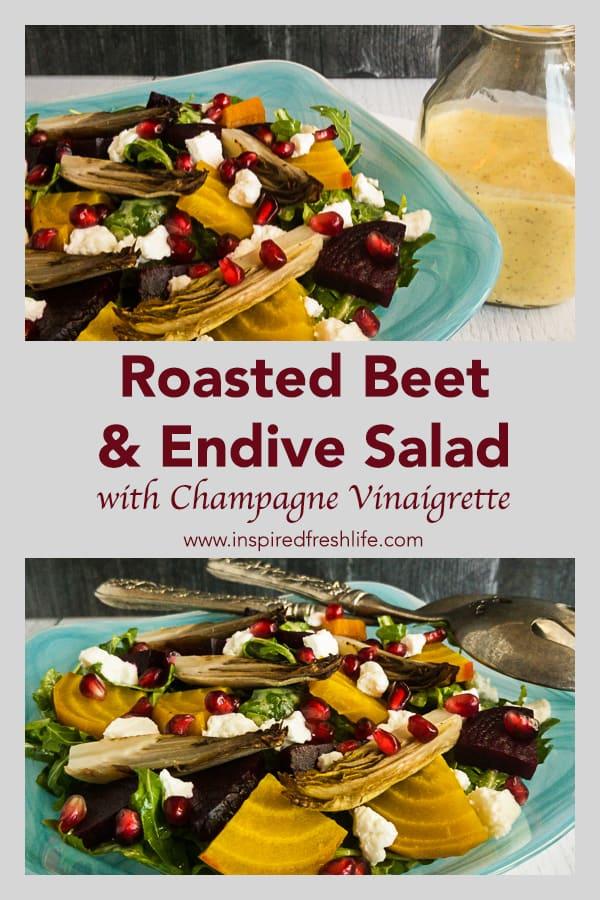 Roasted Beet and Endive Salad Pinterest image.