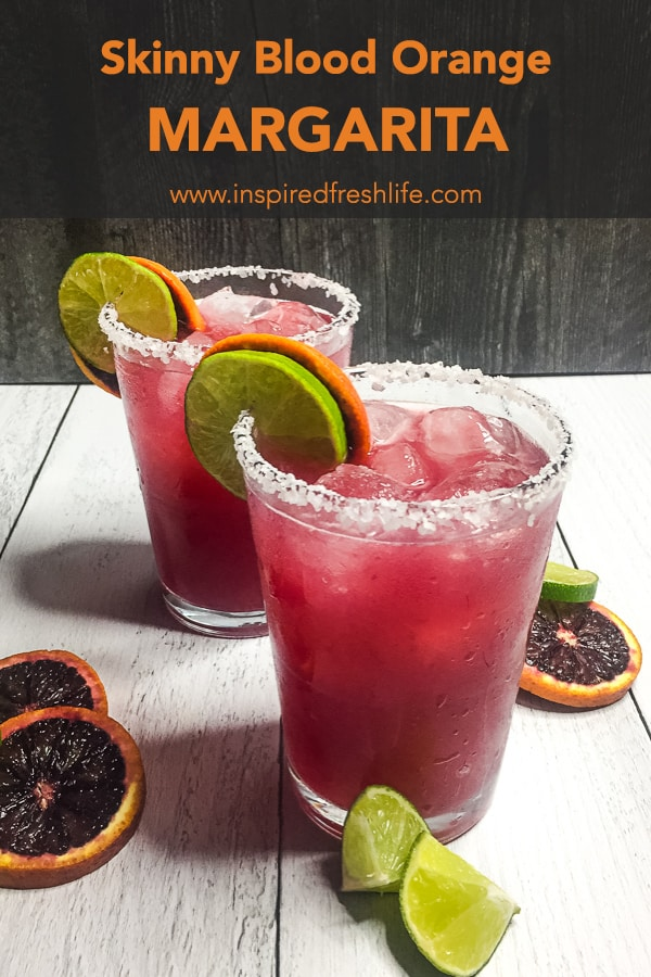 Skinny Blood Orange Margarita Pinterest image
