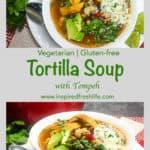Vegetarian Tortilla Soup Pinterest image