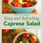 Pinterest image for Caprese Salad