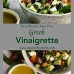 Pinterest image for Greek Vinaigrette