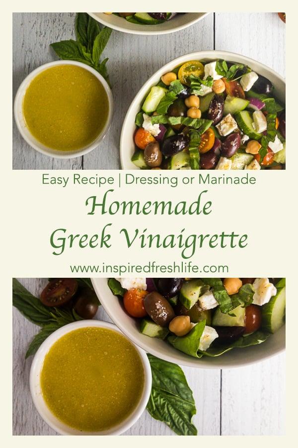 Greek Vinaigrette Pinterest image