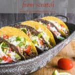 Pinterest image for Easy Taco Meat.