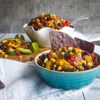 Grilled Summer Corn and Peach Salsa