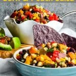 Pinterest image for Grilled Corn and Peach Salsa.