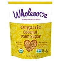 Wholesome Organic Coconut Palm Sugar, Non GMO, Gluten Free, 1 LB bag (single pouch)