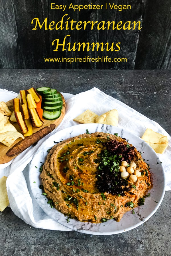 Pinterest image for Mediterranean Hummus
