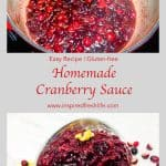 Pinterest image for Homemade Spiced Cranberry Sauce