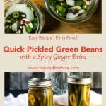 Pinterest image for Quick Pickled Green Beans