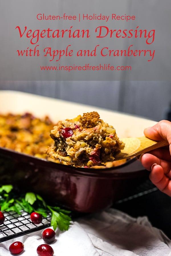 Pinterest image for Gluten-free Vegetarian Stuffing