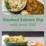 Pinterest image for Smoked Salmon Dip